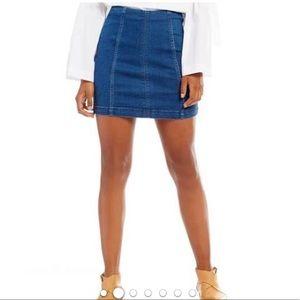 Free people modern femme denim mini skirt size 12